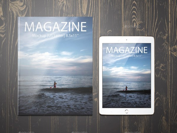 8.5x11 Magazine Mockup