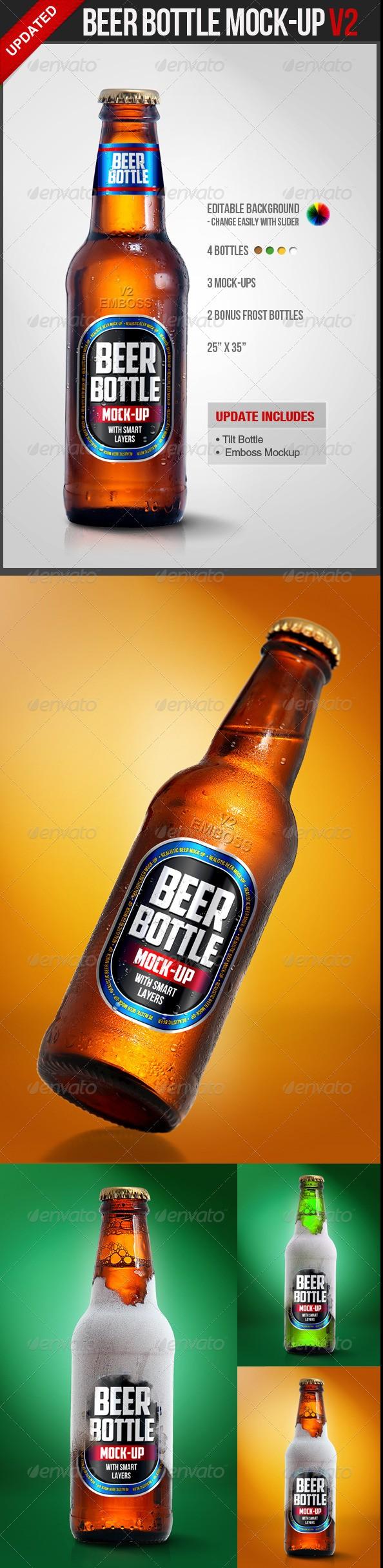 Beer Bottle Mockup V2