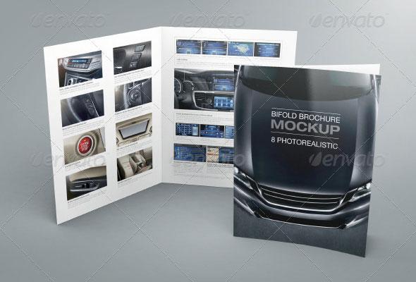 Bi-fold Brochure Mockup 02