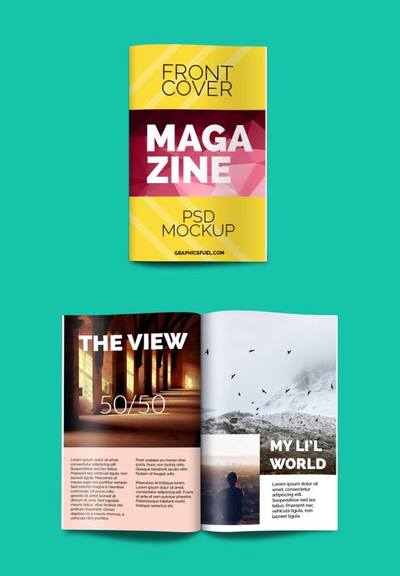 Book Style Magazine PSD Mockup
