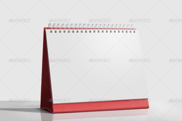 Desk Calendar Mockup Set