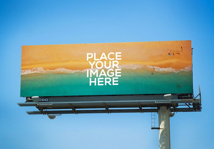 beautiful outdoor advertising billboard mockups psd for free