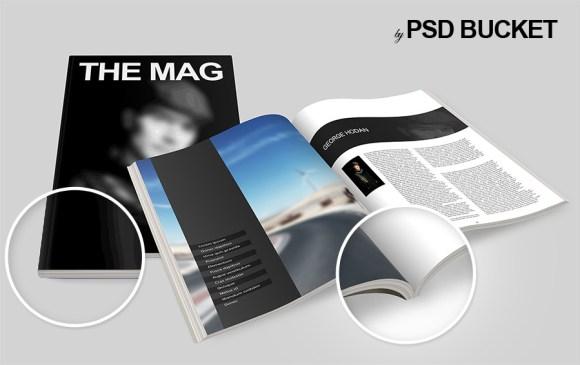 Free Magazine Mockup PSD