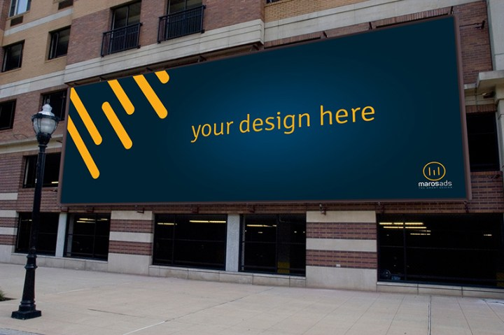 nice outdoor advertising billboard mockups psd for free