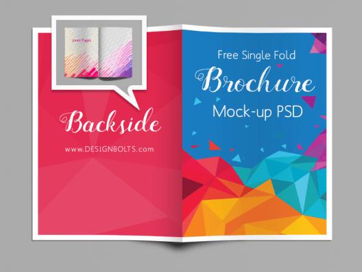 Free Single Fold A4 Brochure Mockup