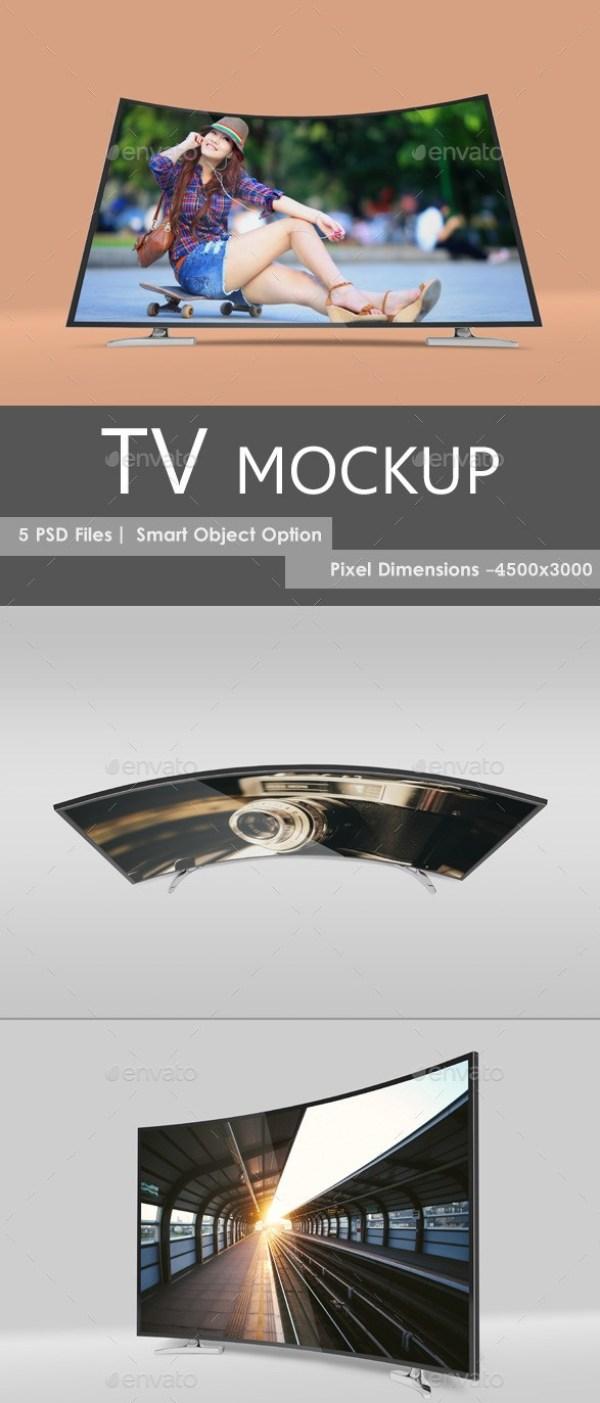 LED TV Mockup