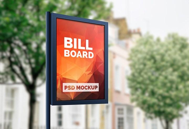 free outdoor advertising billboard mockups psd