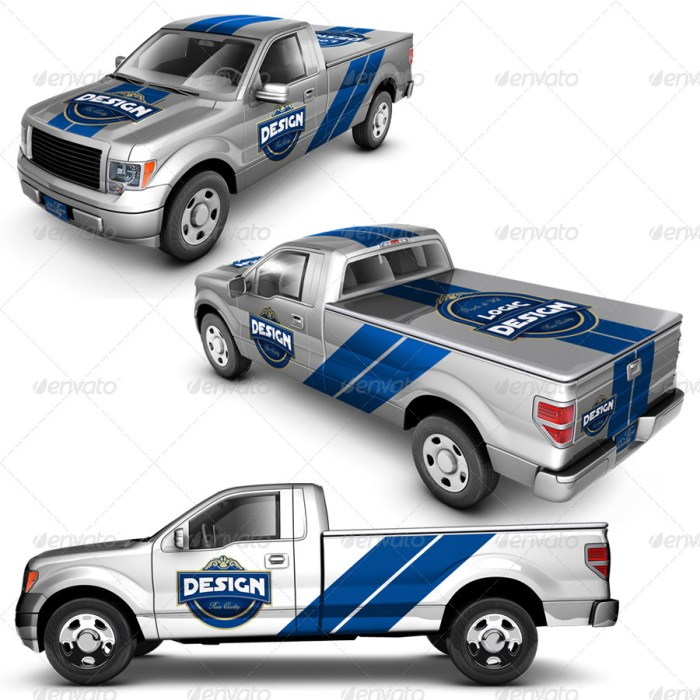 Pickup Truck Mockup
