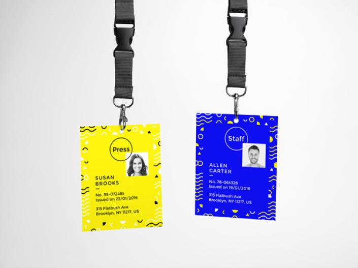 Realistic Lanyard ID Card Free PSD MockUp