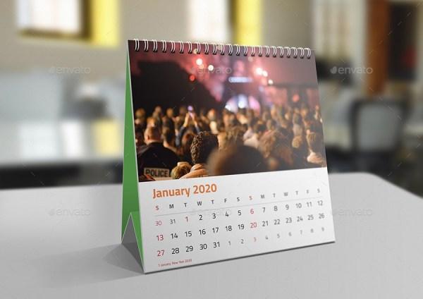 Square Desk Calendar Mockups