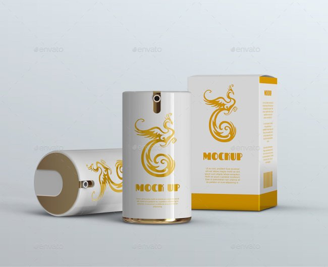 12 Airless Cosmetic Bottle & Containers Mockups