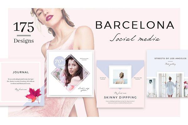 Barcelona: 175 Social Media Designs