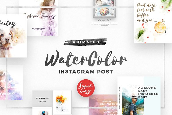 WaterColor Animated Instagram Posts