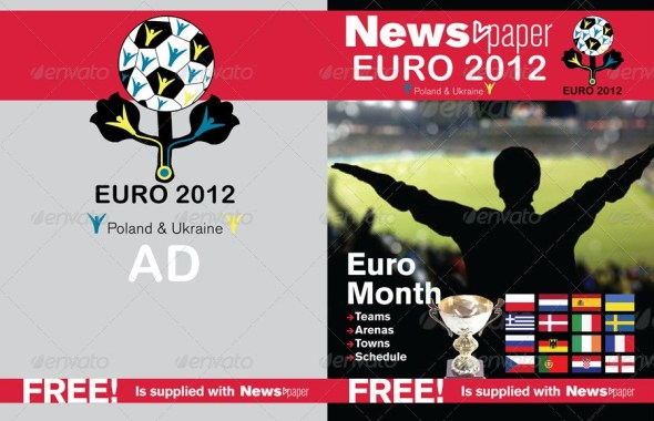 24 Pages Euro 2012 Supplement For Newspaper