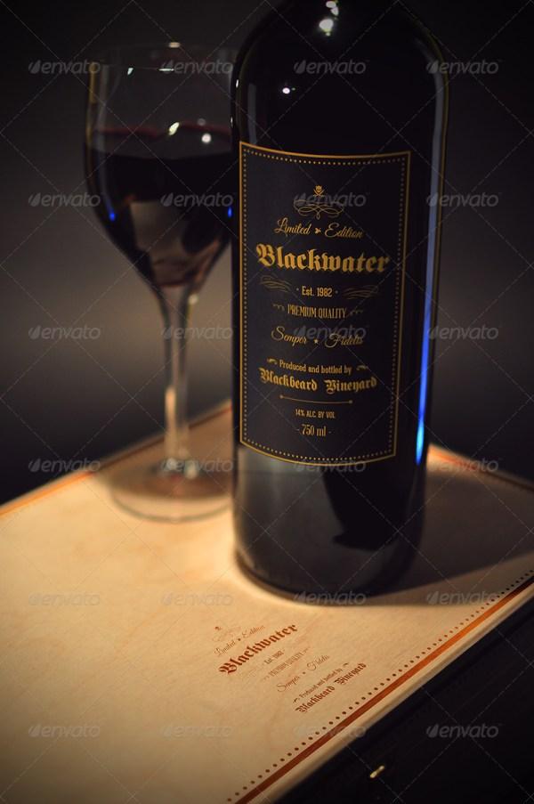 Blackwater Wine Mockup