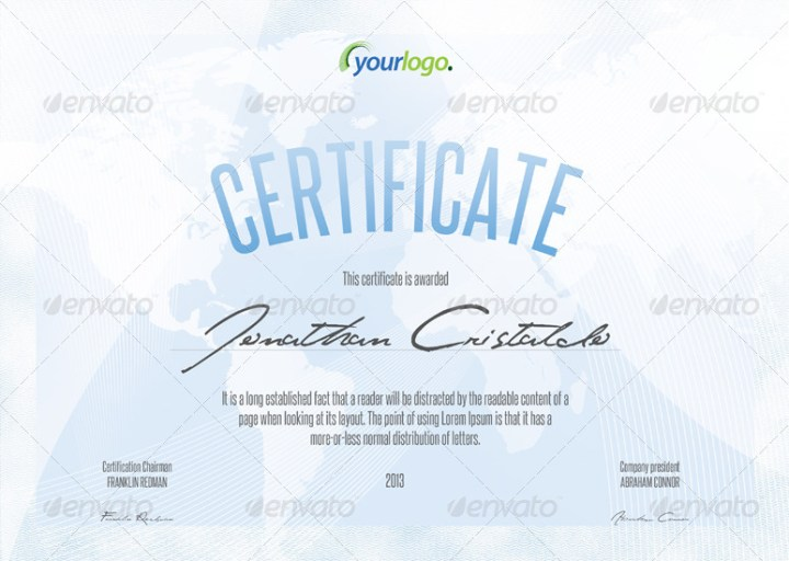 Certificate & Diploma A4 Templates