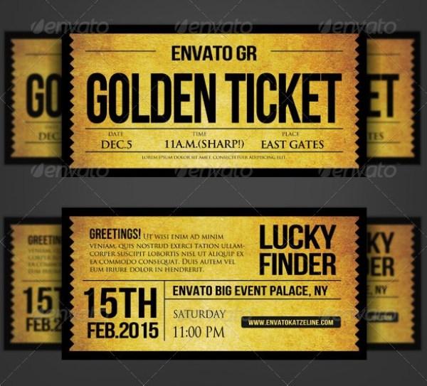 Golden Silver Ticket Template