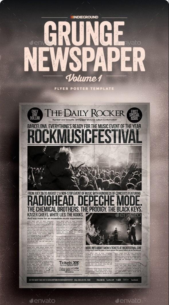 Grunge Newspaper Flyer