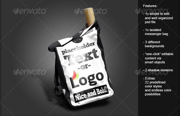Messenger Bag with Editable Text Canvas