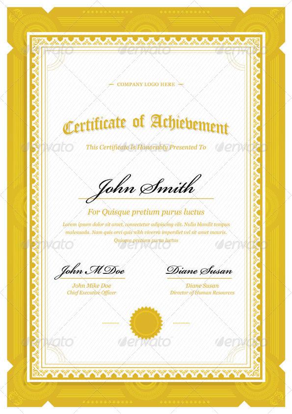 Modern Classy Diploma Award Certificate Templates