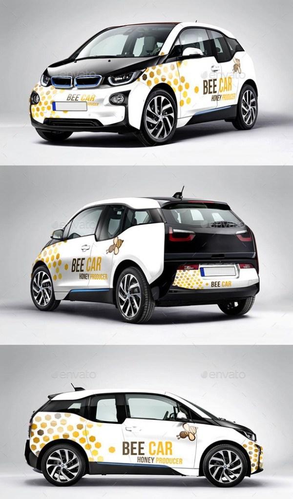 Photorealistic Deutch Electric Car Mockup