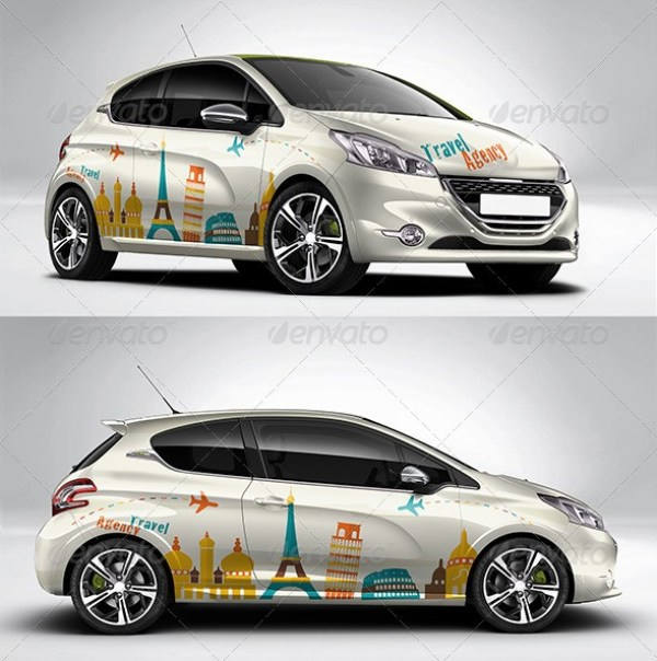Photorealistic French Car Mockup