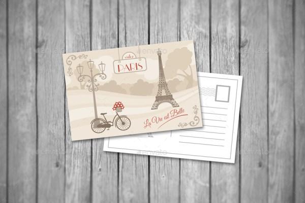 Realistic Postcard Mockups