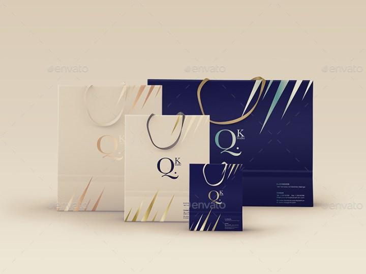 best shopping bag paper bag design psd mockup