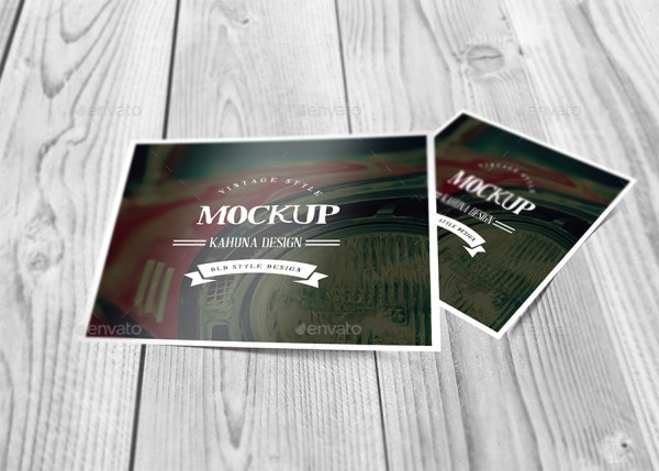Square Postcard Mockup