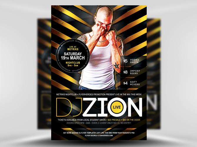 Zion Free DJ Nightclub Flyer Template