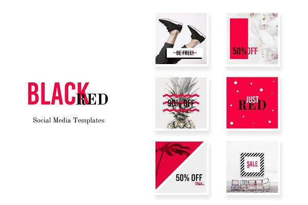 Social Media pack - BlackRed