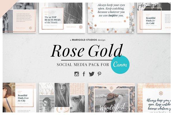 CANVA | Rose Gold Social Media Pack