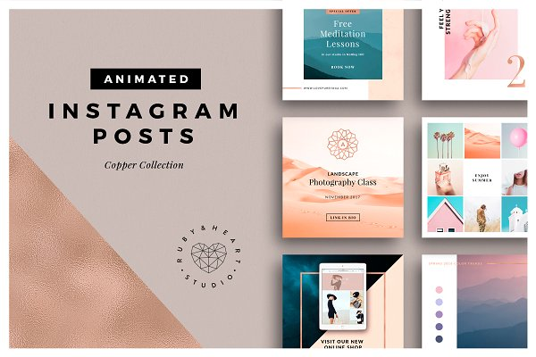 ANIMATED Copper Instagram Posts