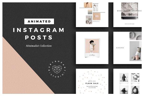 ANIMATED Minimalist Instagram Posts