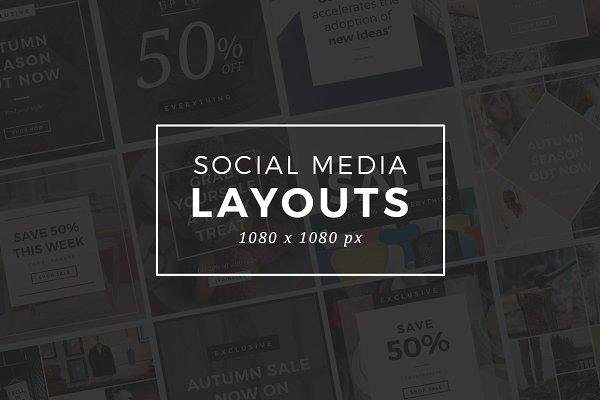 Instagram Social Media Layouts