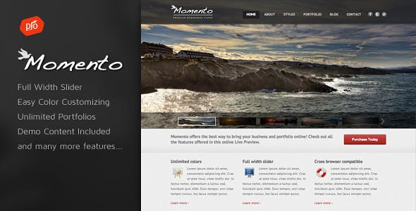 Momento - Photography and Business Theme