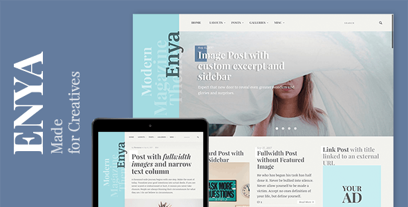 Enya - WordPress Theme for Creative Bloggers