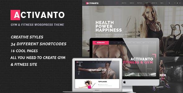 Gym | Fitness | Sport Club WordPress Activanto