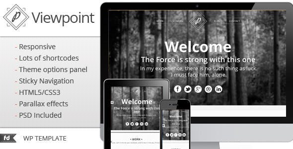 Viewpoint - Responsive single page portfolio