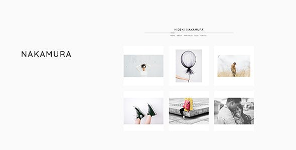 Nakamura - Minimal Photography and Portfolio WordPress Theme