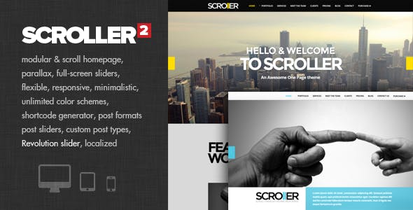 Scroller - Parallax, Scroll & Responsive Theme
