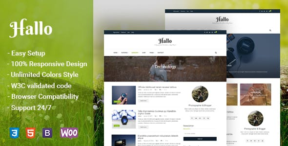 Hallo - Lifestyle A Responsive WordPress Blog Theme