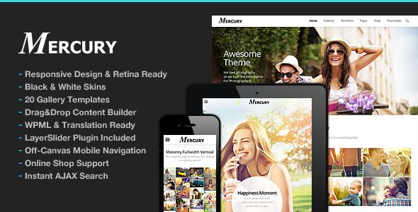 Photography WordPress | Mercury for Photography