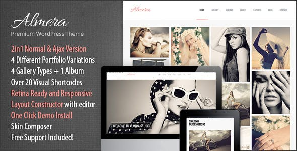 Almera | Model Agency & Photo Portfolio WordPress Theme