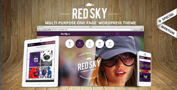 Red Sky - One Page Creative Theme