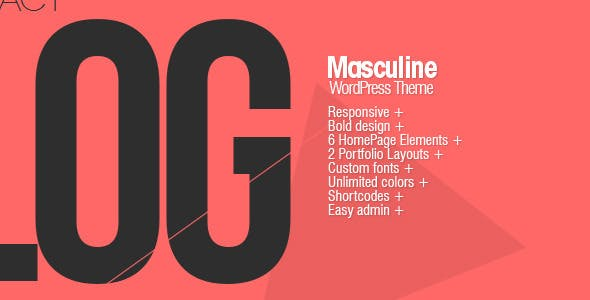 Masculine - Responsive WordPress Theme
