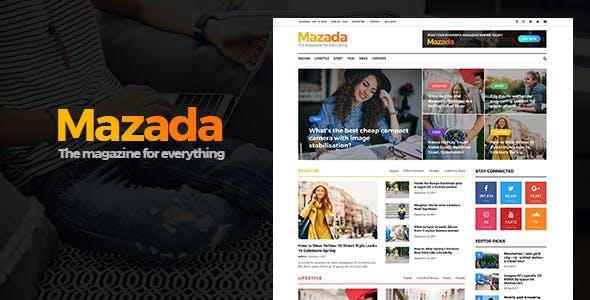 Mazada - News & Magazine WordPress Theme