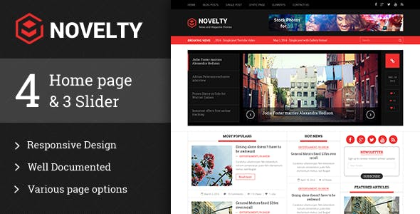 Novelty Magazine WordPress theme