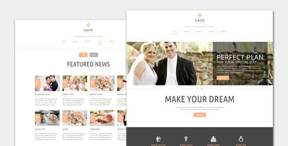 Elastic - Wedding WordPress Theme