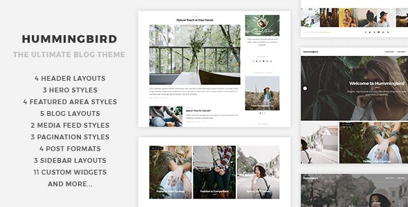 Hummingbird - The Ultimate Blog Theme